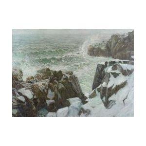 Francis J. Flanagan (American, fl. 1897-1923)  Crashing Surf/A Maine View