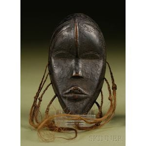 African Carved Wood Passport Mask