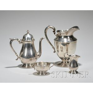 Watson Company Queen Anne-style Three-piece Sterling Silver Coffee Set