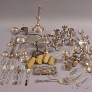 Group of Assorted Sterling Silver Flatware and Hollowware