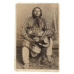 "Framed Photograph of Kiowa Chief ""Big Tree,"""