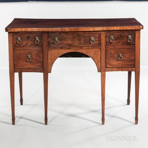 Georgian-style Mahogany and Mahogany-veneered Serpentine Sideboard