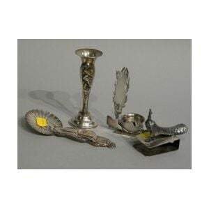Four Sterling Silver Novelty Table Articles.
