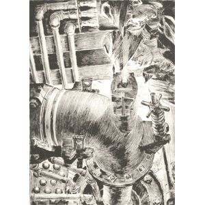 Niels Yde Andersen (Danish/American, 1888-1952)      Lot of Three Images of Factory Workers: Charcoal Man