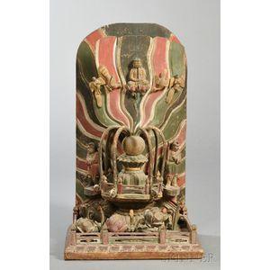 Carved Wooden Shrine