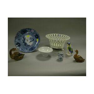 Eight Assorted Ceramic Items.