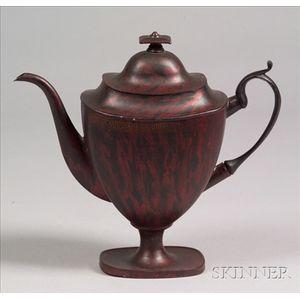 Painted Tinware Teapot