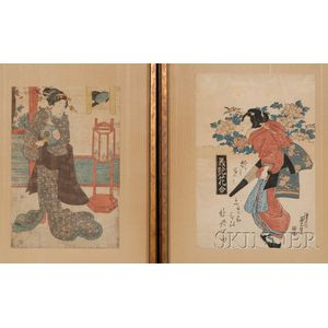 Two Japanese Woodblock Prints: