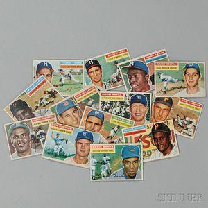1956 Topps Baseball Near Complete Set