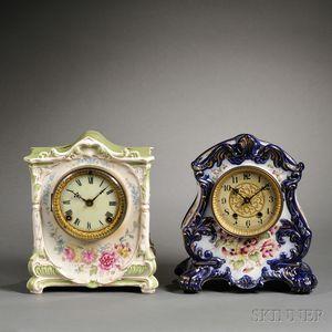 Ansonia and Waterbury China Clocks