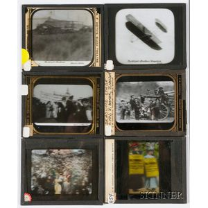 Six Photographic Magic Lantern Slides