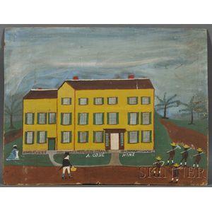 "Jonathan Orne Johnson ""J.O.J."" Frost (American, 1852-1928)      The ""A[ZOR]. ORNE HOME,"" Marblehead, Massachusetts."