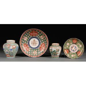 Four Porcelain Items