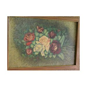 Rustic Ivy/Twig Carved Wood Frame and a Parquetry Wood Frame.