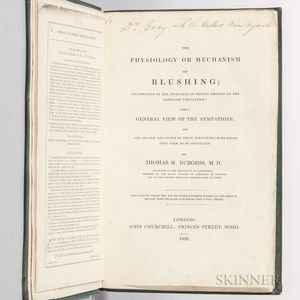 Burgess, Thomas H. (d. 1865) The Physiology or Mechanism of Blushing  , Author