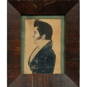Portrait Miniature of a Gentleman in Profile