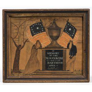 Dartmoor Massacre Watercolor Memorial