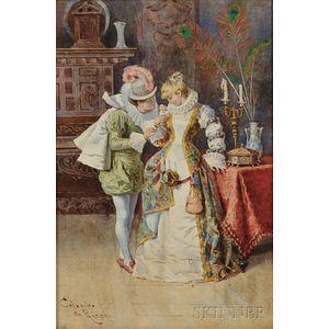 Colombo da Ricci (Italian, 19th Century)      The Proposal