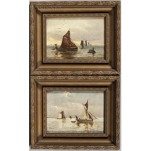 Canadian School, 19th/20th Century      Two Small Marine Paintings