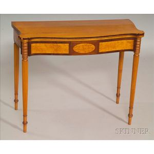 Federal Maple Inlaid Card Table