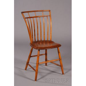 Bamboo-turned Birdcage Windsor Side Chair
