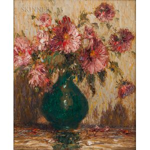 Gustave Adolph Wiegand (German/American, 1870-1957)      The Last Chrysanthemums