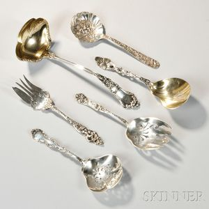 Six American Sterling Silver Serving Pieces