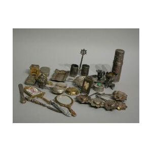 Twenty-seven Miscellaneous Sterling and Plated Silver Novelty Items.