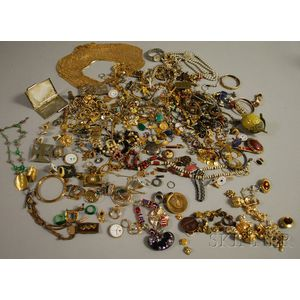 Lot of Costume Jewelry and Accessories