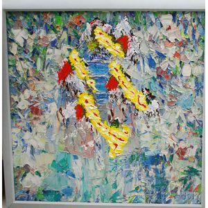 Italo Botti (American, 1923-2003)      Abstract Flower Garden