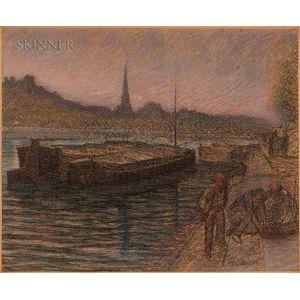 Adrien Godien (French, 1873-1940)    Quai de Lyon