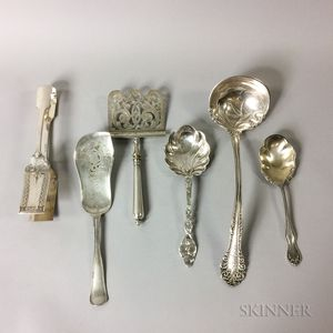 Six Sterling Silver and Silver-plated Serving Pieces