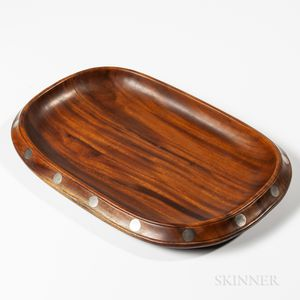 William Spratling Brazilian Rosewood and Sterling Silver Tray