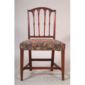 Federal Mahogany Carved Squareback Side Chair