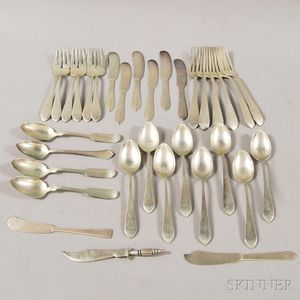 "Small Group of Dominick & Haff ""Mayflower"" Sterling Silver Flatware"