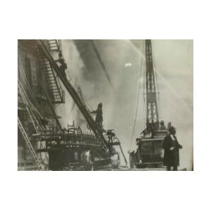 Six Photographs of Boston Fires and Equipment