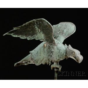 Molded Copper and Cast Zinc Eagle Weather Vane