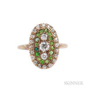Antique Diamond and Gem-set Ring
