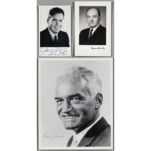 Nixon, Richard Milhous (1913-1994) Signed Photograph and Four Related Signed Items.