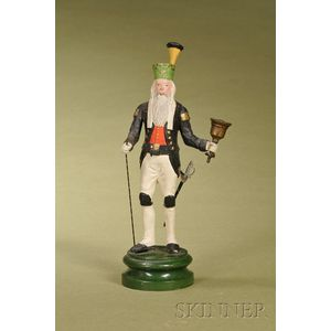 Continental Painted and Gessoed Figure of a Prussian Fusilier