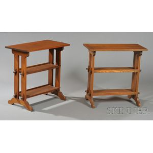 Two Roycroft Book Tables