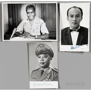 International Leaders, Three Signed Photographs.