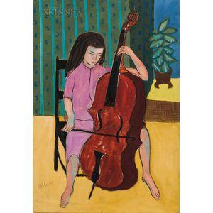 Rex Jesse Ashlock (American, 1918-1999)      Cellist (Margaret Jane 1952)