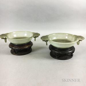 Pair of Jade Marriage Bowls