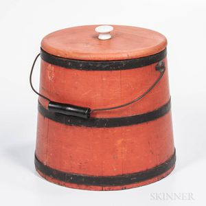Bittersweet Red-painted Firkin Bucket