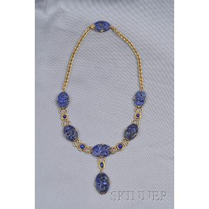 14kt Gold and Lapis Necklace