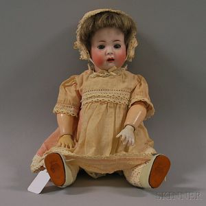 Open-mouthed Koenig & Wernicke German Bisque Head Child Doll