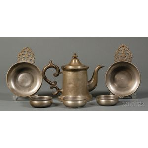 Six Pewter Items