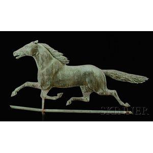 Molded Copper Running Horse Weather Vane