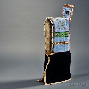 Lakota Beaded Hide and Cloth Cradle